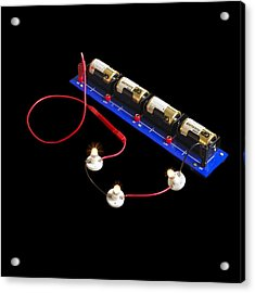 Electrical Circuit Acrylic Print by