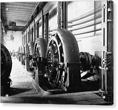 Electrical Generators In Edison Sault Acrylic Print by Everett
