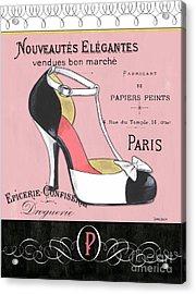 Elegant French Shoes 1 Acrylic Print by Debbie DeWitt