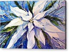 Elegant White Christmas Acrylic Print by Mindy Newman