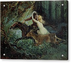 Elegy Of Bohemia Acrylic Print by Adolf Liebscher