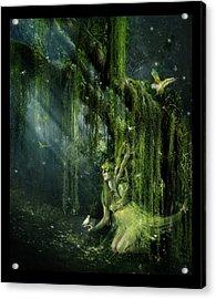 Elemental Earth Acrylic Print by Mary Hood