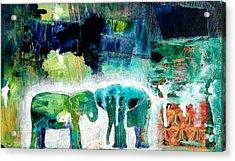 Elephants 2 Acrylic Print by Jenn Ashton