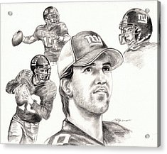Eli Manning Acrylic Print by Kathleen Kelly Thompson