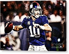 Eli Manning Acrylic Print by The DigArtisT