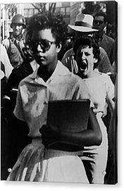 Elizabeth Eckford, One Of The Nine Acrylic Print by Everett