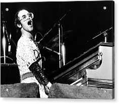 Elton John 1975 Dodger Stadium Acrylic Print by Chris Walter