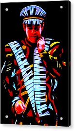 Elton John Collection Acrylic Print by Marvin Blaine