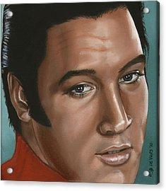 Elvis 24 1968 Acrylic Print by Rob De Vries