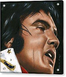 Elvis 24 1974 Acrylic Print by Rob De Vries