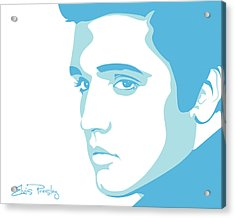 Elvis Acrylic Print by Mike Maher