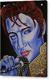 Elvis Acrylic Print by Nannette Harris
