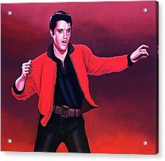 Elvis Presley 4 Painting Acrylic Print by Paul Meijering