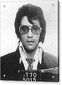 Elvis Presley Mug Shot Vertical Acrylic Print by Tony Rubino