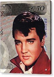 Elvis Presley Acrylic Print by Unknown