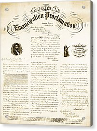 Emancipation Proclamation Acrylic Print by Photo Researchers