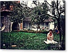 Emanuela At Prayer Acrylic Print by Sarah Loft