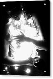 Embracing Light - Self Portrait Acrylic Print by Jaeda DeWalt