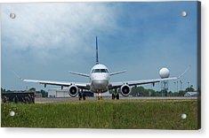 Embraer Erj170 Acrylic Print by Guy Whiteley