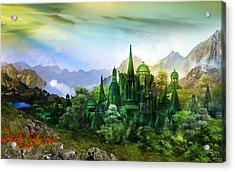 Emerald City Acrylic Print by Mary Hood