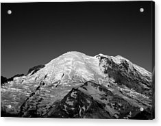 Emmons And Winthrope Glaciers On Mount Rainier Acrylic Print by Brendan Reals