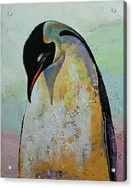 Emperor Penguin Acrylic Print by Michael Creese
