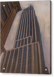 Empire State Building 1 Acrylic Print by Anita Burgermeister