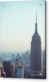 Empire State Of Mind Acrylic Print by Sonja Quintero