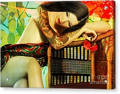 Empty Chair  Acrylic Print by Shanina Conway