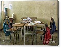 Empty Classroom In Suriname  Acrylic Print by Patricia Hofmeester