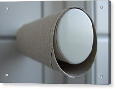 Empty Toilet Paper Roll Acrylic Print by Matthias Hauser