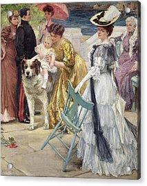 En Famille Acrylic Print by Gustave Grau