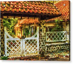 Enchanted Cottage Acrylic Print by Wim Lanclus