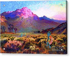 Enchanted Kokopelli Dawn Acrylic Print by Jane Small