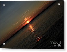 End Of An Off Balance Day Acrylic Print by Karol Livote