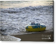 End Of Summer Huntington Beach Acrylic Print by Linda Queally