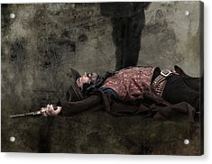 End Of The Trail - Gunslinger Meets His End Acrylic Print by Mitch Spence