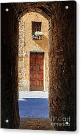 End Of The Tunnel Acrylic Print by Inge Johnsson