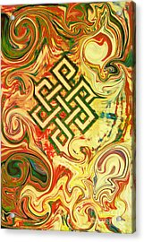 Endless Knot Two Acrylic Print by Kevin J Cooper Artwork