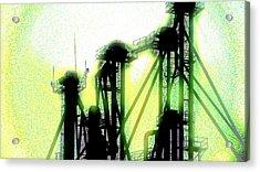Energize Field Acrylic Print by Cyryn Fyrcyd