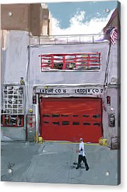Engine Co. 16 Acrylic Print by Russell Pierce