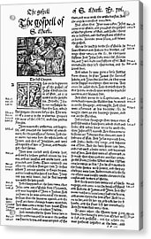 English Bible, 1535 Acrylic Print by Granger
