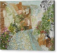 English Cobblestone Acrylic Print by Tara Leigh Rose
