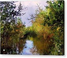 English Country Garden Acrylic Print by Georgiana Romanovna
