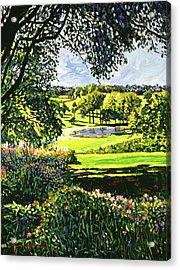 English Country Pond Acrylic Print by David Lloyd Glover