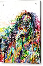 Enigma Acrylic Print by Callie Fink