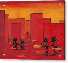 Enjoy Dancing In Red Town P1 Acrylic Print by Manuel Sueess