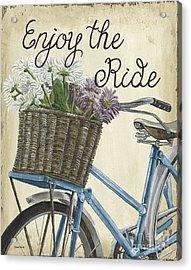 Enjoy The Ride Vintage Acrylic Print by Debbie DeWitt