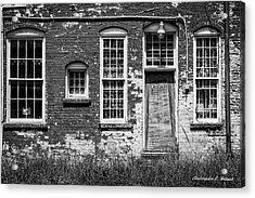 Enough Windows - Bw Acrylic Print by Christopher Holmes