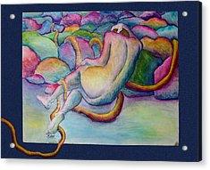 Entangled Figure With Rocks Acrylic Print by Nancy Mueller